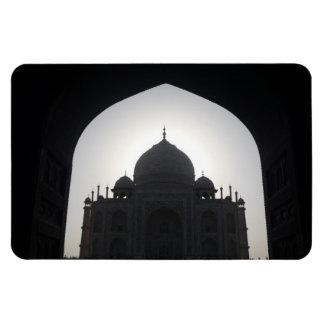 taj mahal silhouette rectangular photo magnet