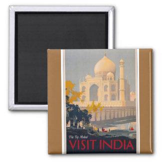 Taj Mahal Square Magnet