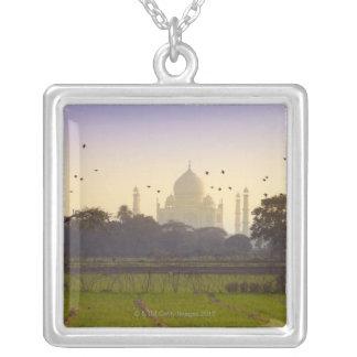 Taj Mahal Square Pendant Necklace