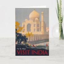 Taj Mahal Vertical Greeting Card Vertical Greeting