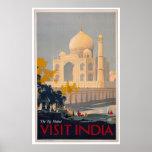 Taj Mahal - Visit India Poster