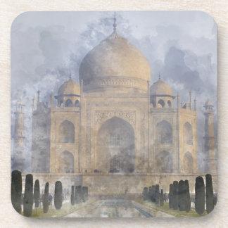 Taj Mahal Watercolor Coaster