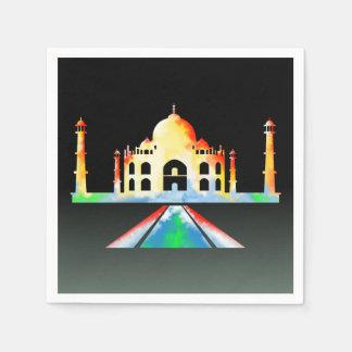 Taj Mahal Watercolor Napkin