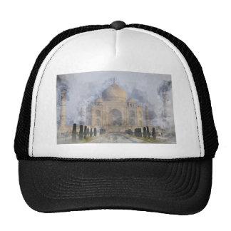 Taj Mahal Watercolor Trucker Hat