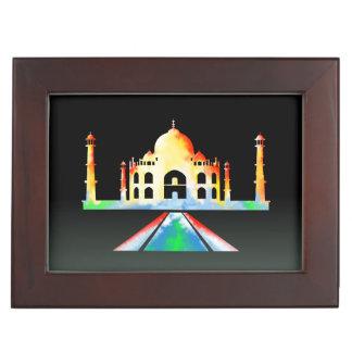 Taj Mahal Watercolour Painting Keepsake Box