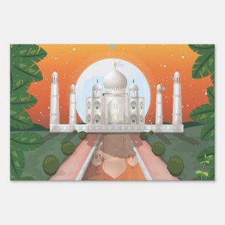 Taj Mahal Lawn Signs