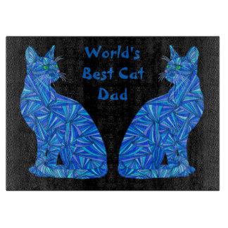 Tajadera del mejor papá del gato del mundo del tabla de cortar