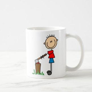 Tajar la taza que acampa de madera