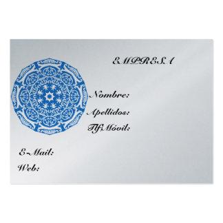 Tajeta Visita Mandala Azul Tarjeta Personal