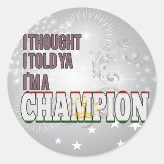 Tajik and a Champion Classic Round Sticker