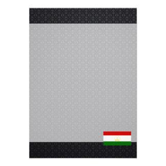 """Tajik flag 5"""" x 7"""" invitation card"""