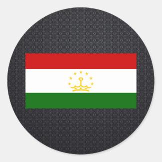 Tajik flag classic round sticker