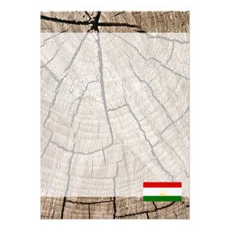"Tajik flag on tree bark 5"" x 7"" invitation card"