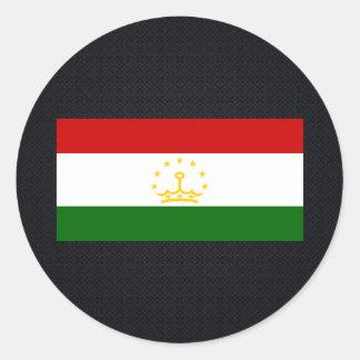 Tajik National flag of Tajikistan-01.png Classic Round Sticker