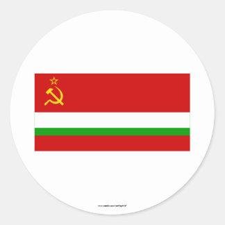 Tajik SSR Flag Classic Round Sticker