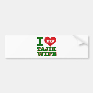 Tajikazstan wife bumper sticker