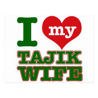 Tajikazstan wife postcard