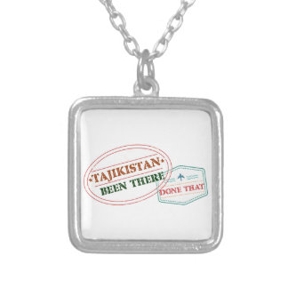 Tajikistan Been There Done That Silver Plated Necklace