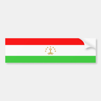 Tajikistan country flag nation symbol bumper sticker