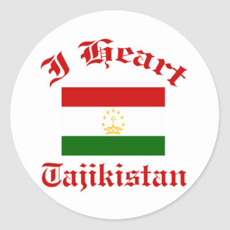 Tajikistan Design Classic Round Sticker