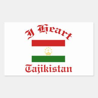 Tajikistan Design Rectangular Sticker
