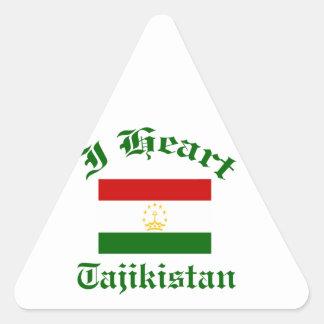 Tajikistan design triangle sticker