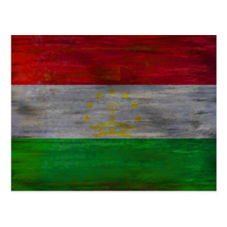 Tajikistan distressed flag postcard