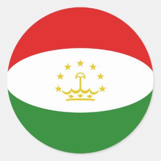 Tajikistan Fisheye Flag Sticker