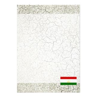 """Tajikistan Flag 5"""" X 7"""" Invitation Card"""