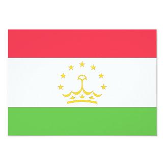 Tajikistan Flag 5x7 Paper Invitation Card