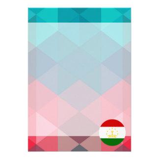 "Tajikistan flag circle on modern bokeh 5"" x 7"" invitation card"