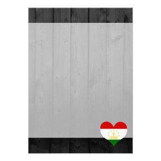 "Tajikistan flag colored 5"" x 7"" invitation card"