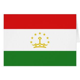 Tajikistan Flag Notecard