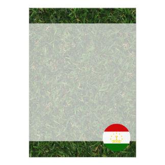 """Tajikistan Flag on Grass 5"""" X 7"""" Invitation Card"""