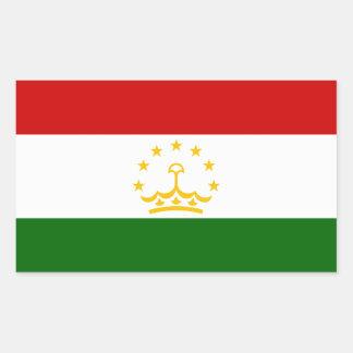 Tajikistan Flag Rectangular Sticker