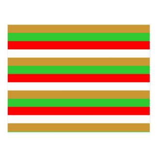 Tajikistan flag stripes postcard