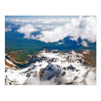 Tajikistan - Flying over Pamir Mountains Postcard