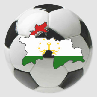 Tajikistan football soccer classic round sticker