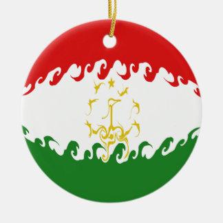 Tajikistan Gnarly Flag Ornament