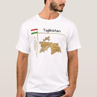 Tajikistan Map + Flag + Title T-Shirt