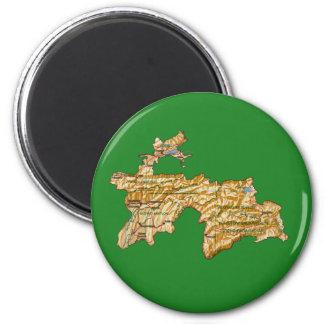 Tajikistan Map Magnet