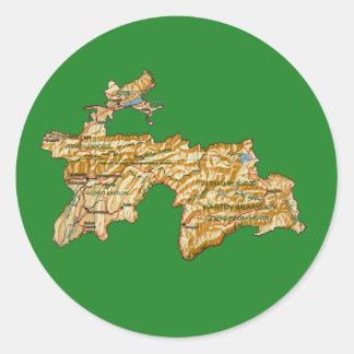 Tajikistan Map Sticker