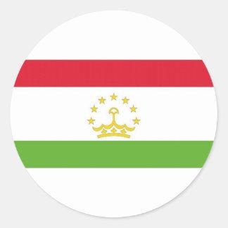 Tajikistan National Flag Classic Round Sticker