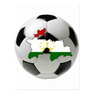 Tajikistan national team postcard