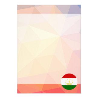 """Tajikistan Souvenir 5"""" X 7"""" Invitation Card"""