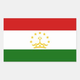 Tajikistan/Tajik/Tadzhik Flag Rectangular Sticker