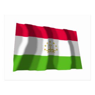 Tajikistan Waving Flag Postcard