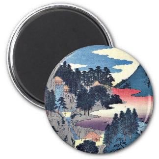 Tajima by Ando, Hiroshige Ukiyoe 2 Inch Round Magnet