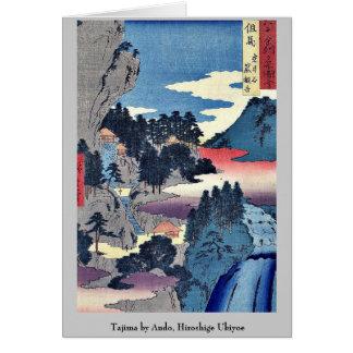Tajima by Ando, Hiroshige Ukiyoe Stationery Note Card