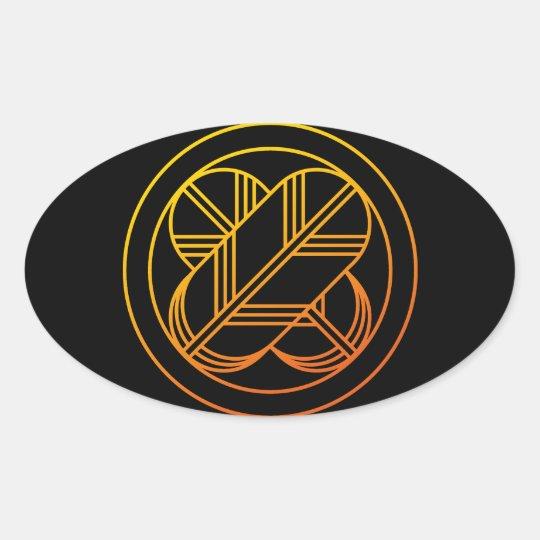 Taka1 (Gold Line) Oval Sticker